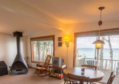 South shore Living fireplace view