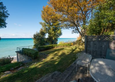 south manitou deck view beach lake autumn